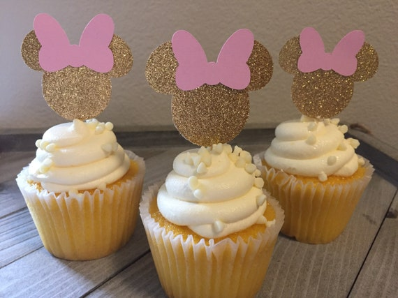 Awesome Minnie Mouse Cupcake Toppers Minnie Mouse Birthday Minnie Etsy Funny Birthday Cards Online Necthendildamsfinfo