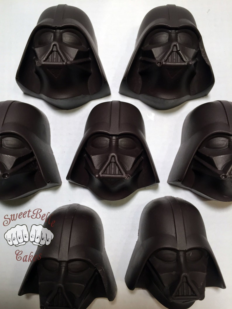 Darth Vader Chocolates. One dozen solid vanilla chocolates. image 0