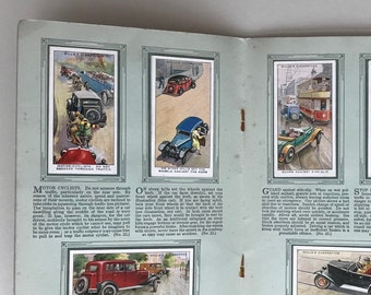 Safety First: collectable cigarette album. Complete set of cards in original Album from WD & HO Wills. Road Safety. 1930s.