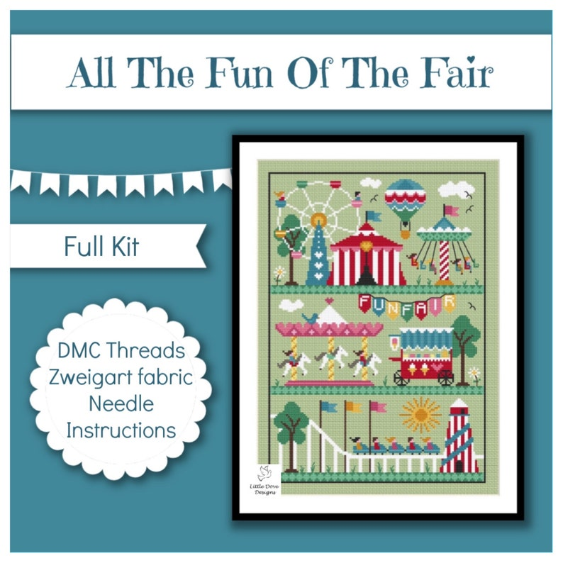 All The Fun Of The Fair Cross Stitch FULL Kit image 0