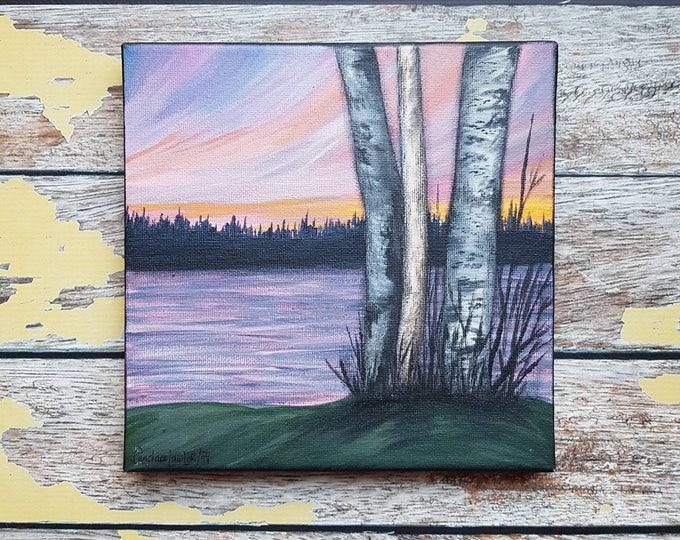 "Seascape Canvas Art   Coastal Painting   Ocean Art   Landscape Painting   Beachscape Painting   8x8   ""Serenity""   Ocean Landscape Art"