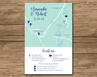 Wedding Map Insert Etsy