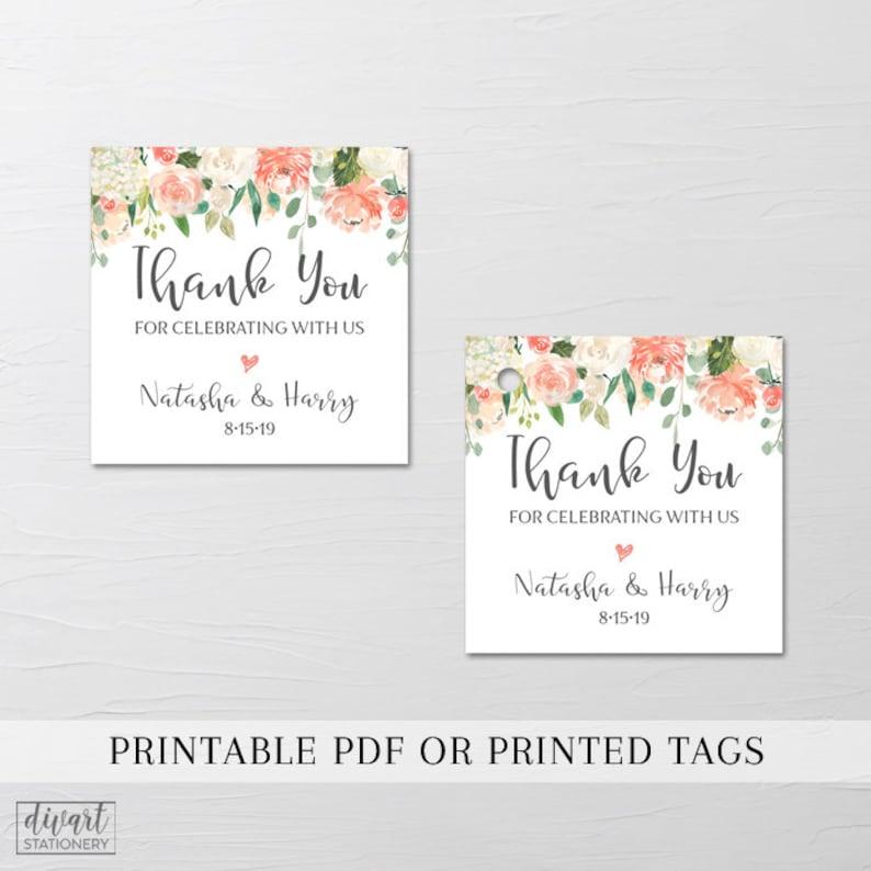 Wedding Favor Tags Printable Or Printed Let Love Grow Etsy