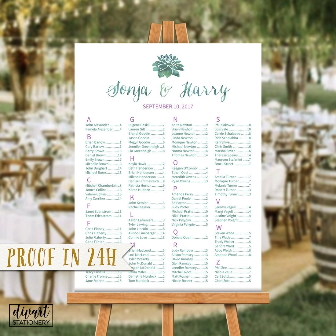 8ecef8ceabd Wedding Seating Chart Seating Chart Alphabetical Seating