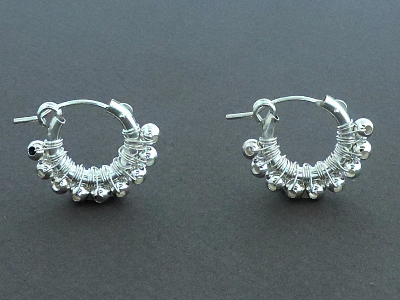 Delicate Earrings Silver Sterling Hoop Earrings Gift Under 50 Wire Wrapped Girl/'s Gift,Women Earrings Gift For Her Small Hoop Earrings