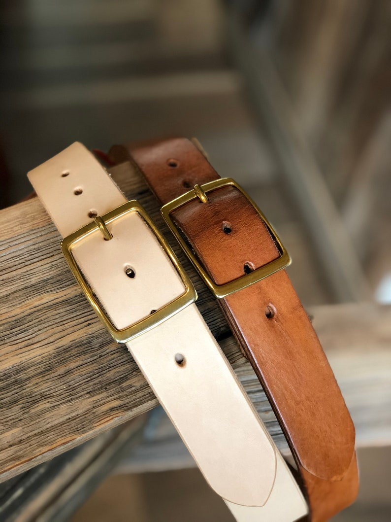 Natural 1 12\u201d Leather belt Patina leather belt full grain leather vegetable-tanned leather handmade  great graduation gift