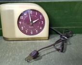 1930 39 s Yellow Bakelite Futuristic Westclox Moon Beam Electric Alarm Clock Bedroom Decor Model S5J Art Deco Works