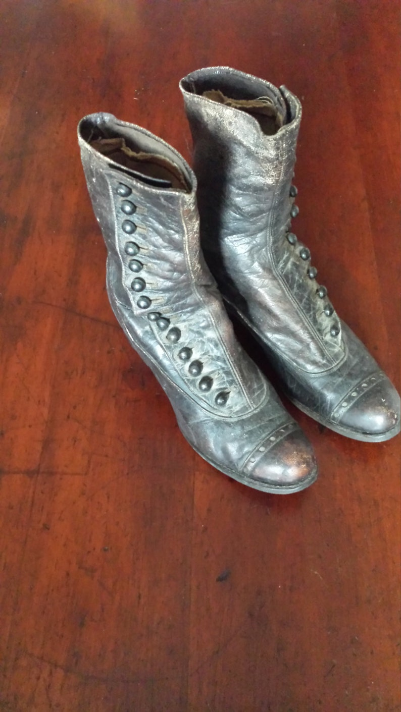 Darling Little Ladies Leather Victorian Button Shoes Boots image 0
