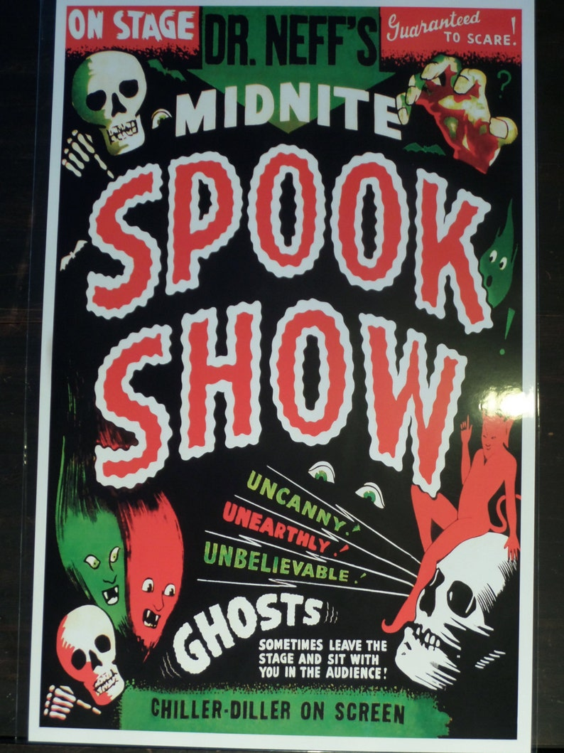 DR OF MAGIC SPOOK SHOW EVENT POSTER Sideshow Freakshow Carnival Oddity Strange