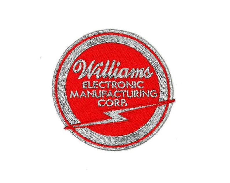 Pinball Williams Iron-On / Sew-On Patch Vintage Reproduction Zapcon 5  Pinfest Button Mash Ground Kontrol Arcade Video Game Machine 84