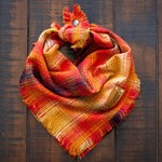 PHOENIX - Dog Bandana (Limited Edition, Yarn Dyed Flannel, Frayed Edge, Tie and Snap)