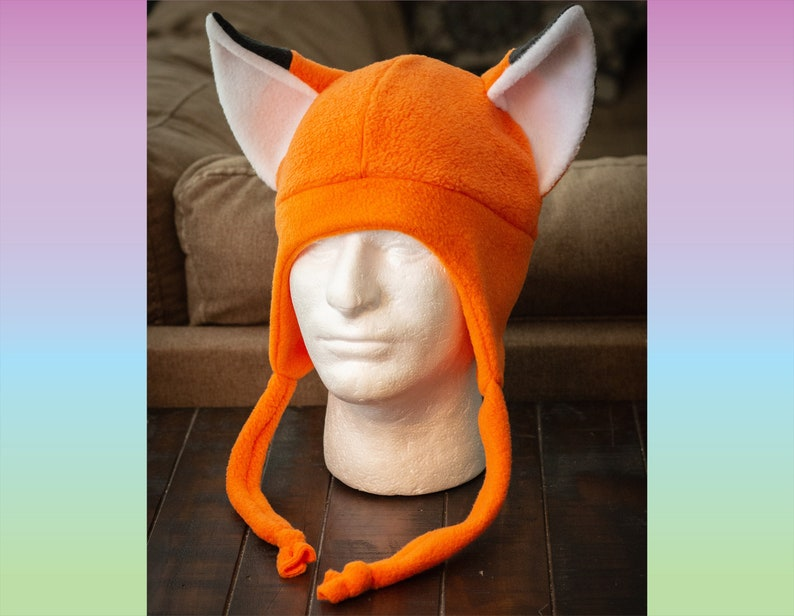Fox  Fleece Cosplay Aviator Hat image 0
