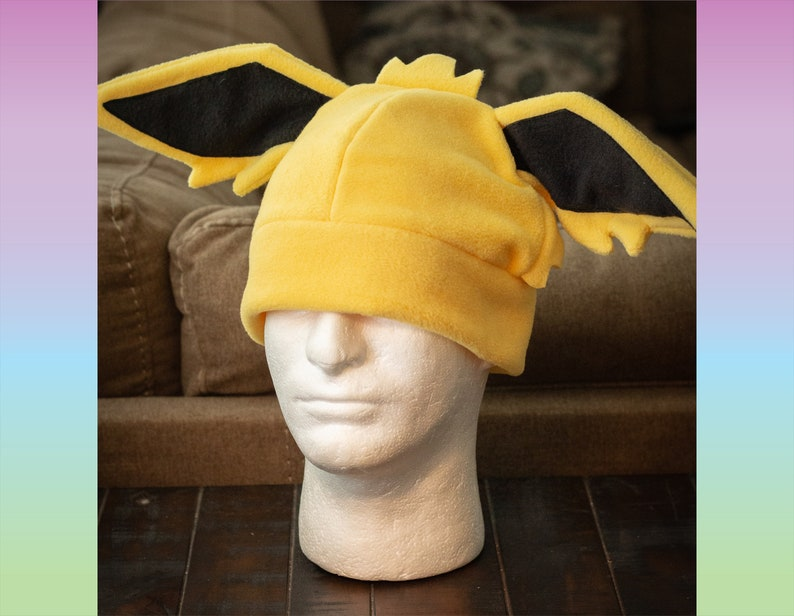 Jolteon Pokemon Inspired  Fleece Cosplay Hat image 0