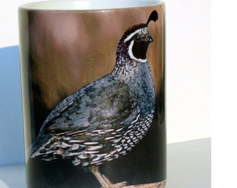 Quail Large Coffee Mug 15 Oz.
