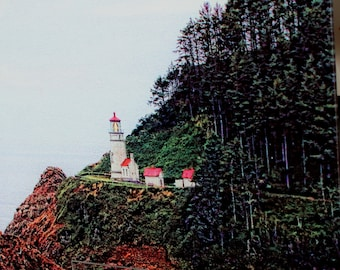 Heceta Head Light  - Large Glass Cutting Board - 12 in x 15 in