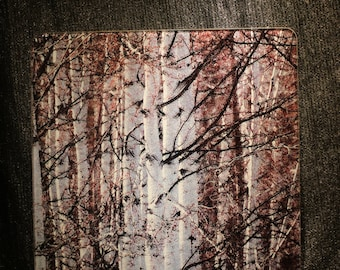 Spring Aspen - Large Glass Cutting Board -  12 in x 15 in