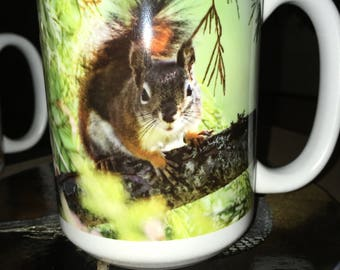 Red Squirrel Large Coffee Mug 15 Oz