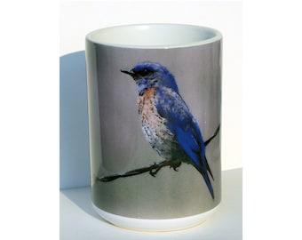 Bluebird Large Coffee Mug 15 Oz