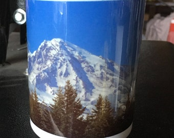 Mount Rainier Large Coffee Mug 15 Oz