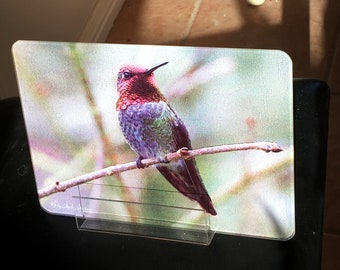 Anna On a Branch Glass Cutting Board - 10.75in x 7.75in