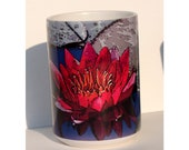 Red Lily Art Large Coffee Mug 15 oz