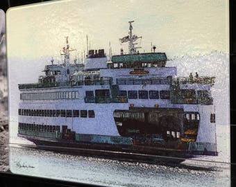 Ferry Spokane - Glass Cutting Board Large - 12 in x 15 in