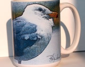 Gull Art Large Coffee Mug 15 Oz