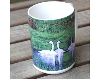 Trumpeter Swans Large Coffee Mug 15 Oz.