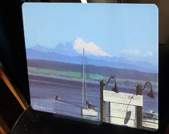 Glass Cutting Board Large - Coupeville, WA - 12 in x 15 in
