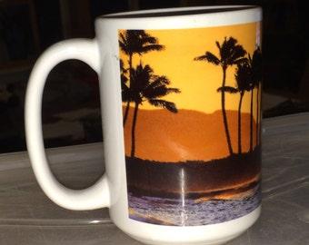 Sunset Mug Large Coffee Mug 15 Oz