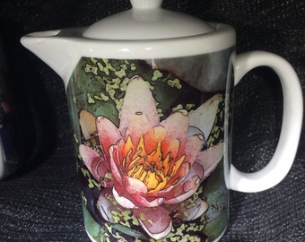Pink Waterlily: Teapot - Creamer - Gravy Pitcher