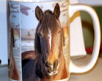 Smiley - Horse - Large Coffee Mug 15 oz