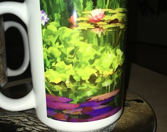 Pondscape Art Large Coffee Mug 15 oz
