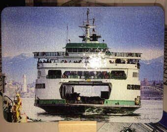 Ferry Tacoma Glass Cutting Board 7.75in  x 10.75in