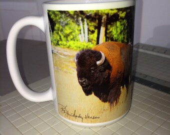 Bison Large Coffee Mug 15 Oz