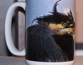 Heron Large Coffee Mug 15 Oz