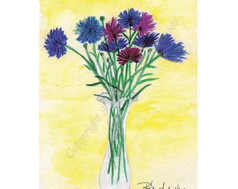 10 Morning Vase  Blank Note Cards