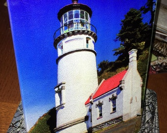 Heceta Head Light Glass Cutting Board 7.75in  x 10.75in