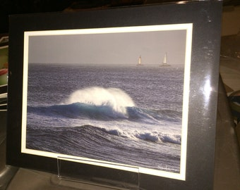 Two Ships - Matted Print 11 x 14