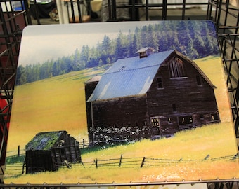 Highway 97 Barn Glass Cutting Board Large 12 in x 15 in