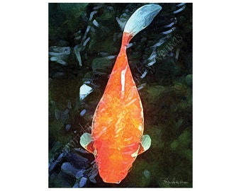 Sale - 10 Big Red Goldfish  Blank Note Cards