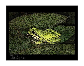 10 Froggy Blank Note Cards
