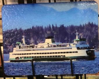 Ferry Puyallup Glass Cutting Board 7.75in  x 10.75in