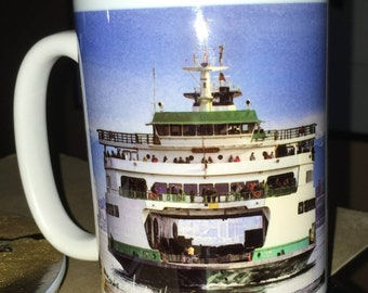Ferry Tacoma  Large Coffee Mug 15 Oz