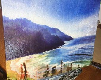 Heceta Shore - Large Glass Cutting Board - 12 in x 15 in