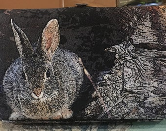 Flat Wallet Mountain Cottontail - 7 3/16 x 4 1/2 in