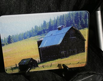 Barn Glass Cutting Board  - 10.75 in x 7.75