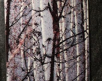 Spring Aspen Glass Cutting Board -  7.75in x 10.75in