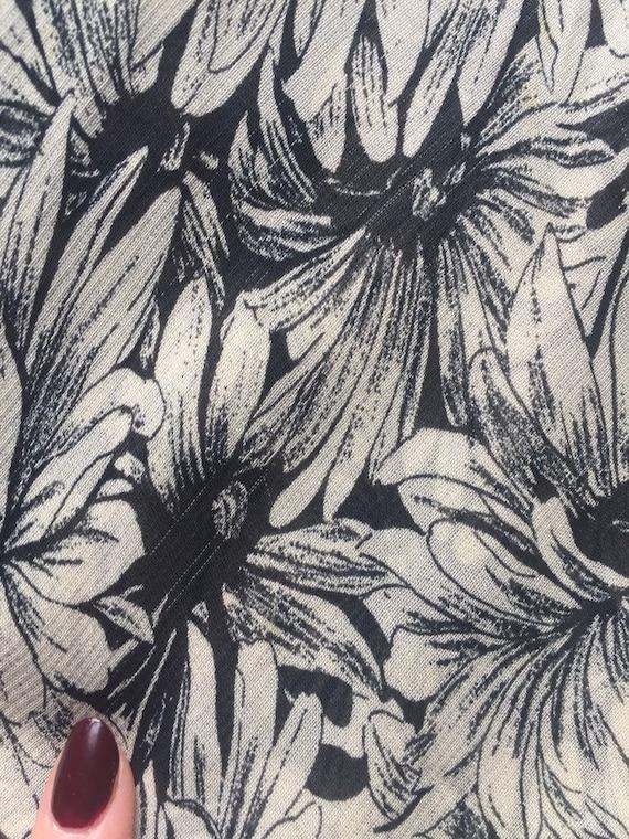 90's Betsey Johnson Black & White Floral Chiffon … - image 6