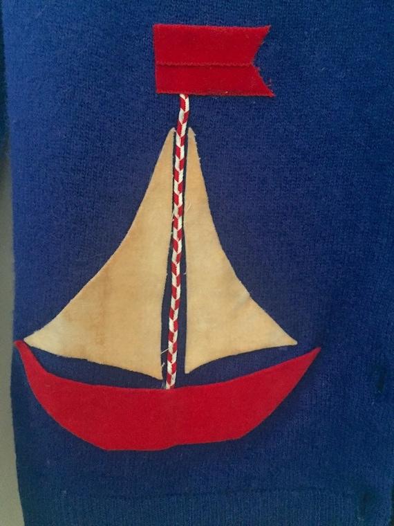 50's Nautical Themed Cardigan - image 9